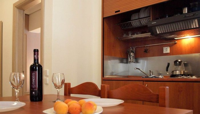 Caravel Apartment Hotel , (apartment, kitchen), Rhodes, Greece